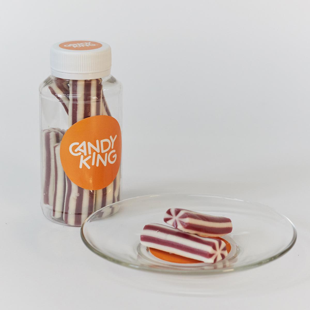 Candy King Смородиновые палочки Конфета желейная со вкусом черной смородины и ванили, 200 мл шоколадные годы конфеты ассорти 190 г