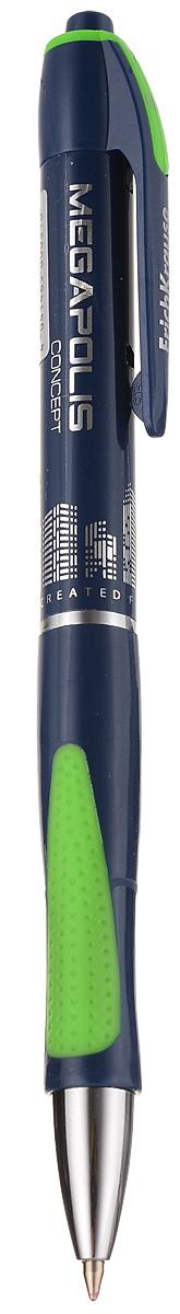 Erich Krause Ручка шариковая Megapolis Concept EK 31 цвет корпуса синий зеленый erich krause ручка шариковая megapolis concept ek 31 синяя цвет корпуса синий