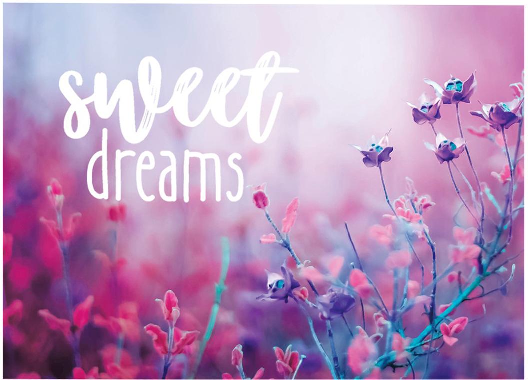 """Выразить свои чувства и дополнить основной подарок тёплыми словами вам поможет открытка Дарите Счастье """"Sweet dreams"""". С ней ваше пожелание «Счастья, любви и здоровья» приобретёт трепетный и душевный подтекст. А воспоминания о праздничном дне ещё долго будут радовать адресата."""