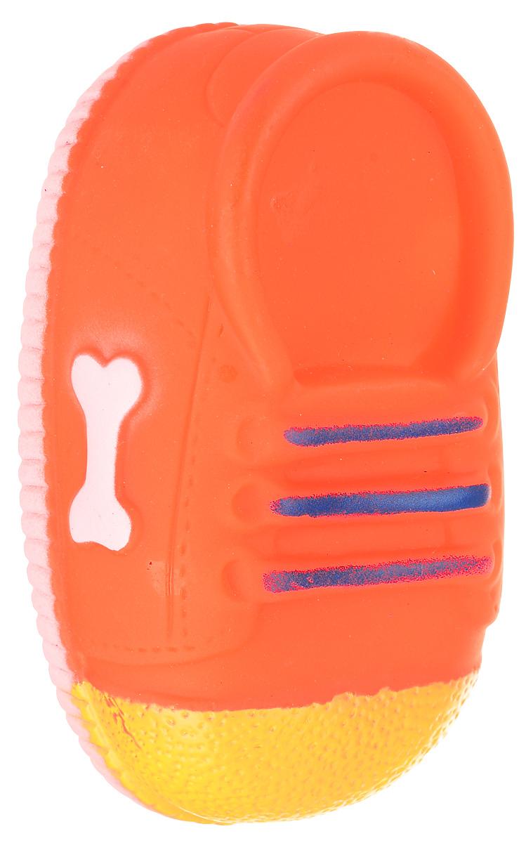Игрушка для собак Уют Кеды, цвет: оранжевый, 10 x 5 x 4 см уют