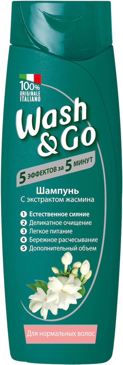 Wash&Go Шампунь с экстрактом жасмина для нормальных волос, 400 мл26137Шампунь Wash & Go с любовью ухаживает за вашими волосами, делая их невероятно живыми и объемными. Его особая формула нежно очищает волосы и кожу головы, обеспечивая ощущение легкости и объем. Обогащенный экстрактом жасмина, известным своими очищающими и увлажняющими свойствами, этот шампунь - идеальный выбор для нормальных волос.