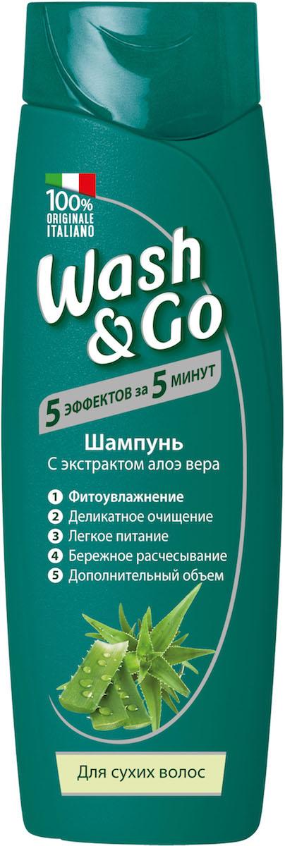 Wash&Go Шампунь для сухих волос с экстрактом алоэ вера, 400 мл26139Шампунь Wash & Go с любовью ухаживает за вашими волосами, делая их невероятно живыми и объемными. Его особая формула нежно очищает волосы и кожу головы, обеспечивая ощущение легкости и объем. Обогащенный экстрактом алоэ, известным своими увлажняющими свойствами, этот шампунь - идеальный выбор для сухих волос