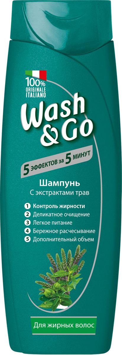 Wash&Go Шампунь с экстрактами трав для жирных волос, 200 мл