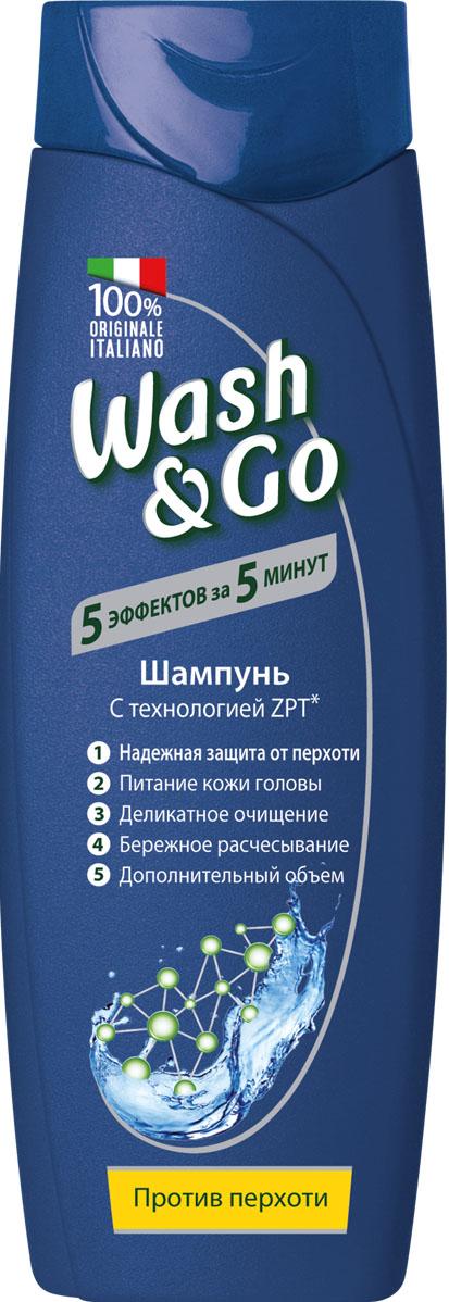Wash&Go Шампунь против перхоти с технологией ZPT, 200 мл26148Формула шампуня Wash & Go c технологией Zinc Pyrithione эффективно устраняет перхоть и очищает кожу головы, делая волосы здоровыми и придавая им объем.