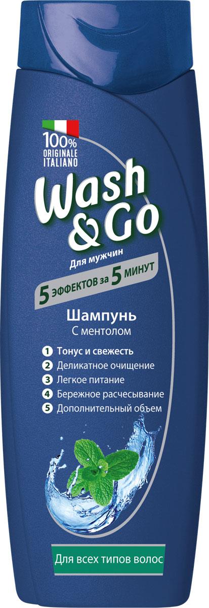 Wash&Go Шампунь с ментолом для всех типов волос, 200 мл26149Шампунь Wash & Go с ментолом и технологией укрепления волос предназначен для придания свежести и силы мужским волосам всех типов.