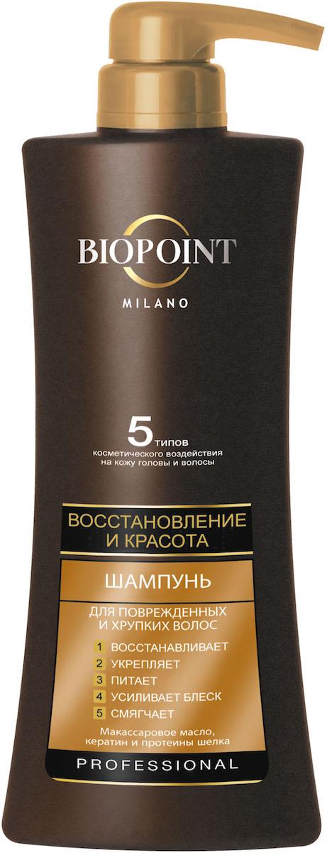 Biopoint Шампунь Восстановление и красота для поврежденных и хрупких волос, 400 мл