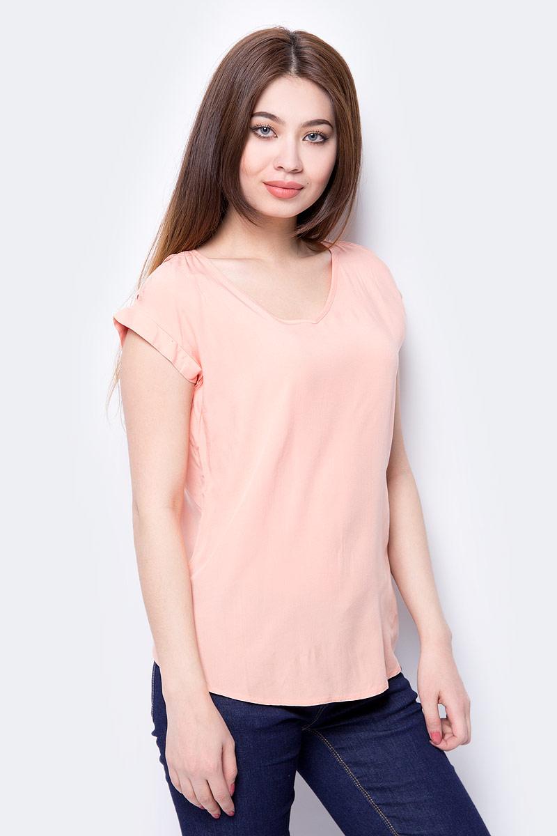 все цены на Блузка женская Sela, цвет: персиковый. Tws-112/145-8243. Размер 50 онлайн