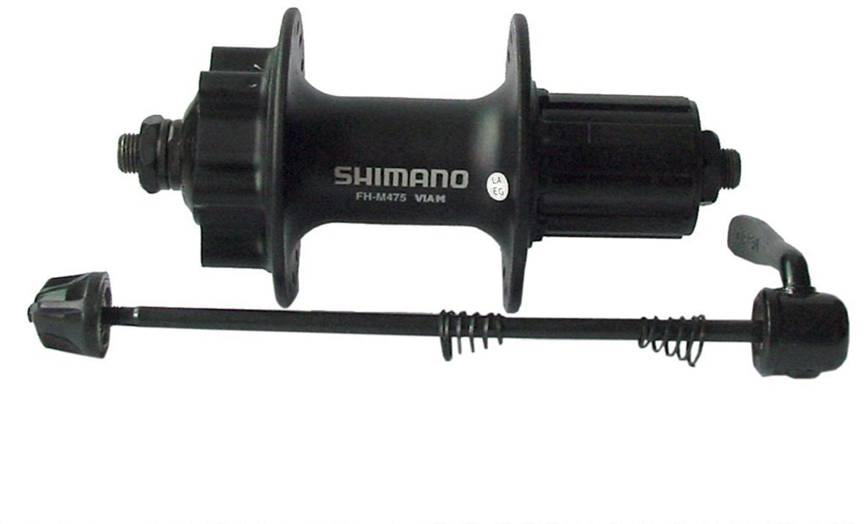 Втулка задняя Shimano M475, 36 отверстий, 8/9 ск, 6-болт, QR 166 мм, цвет: черный запчасть shimano nexus 8s31 8 ск esl8s31lals
