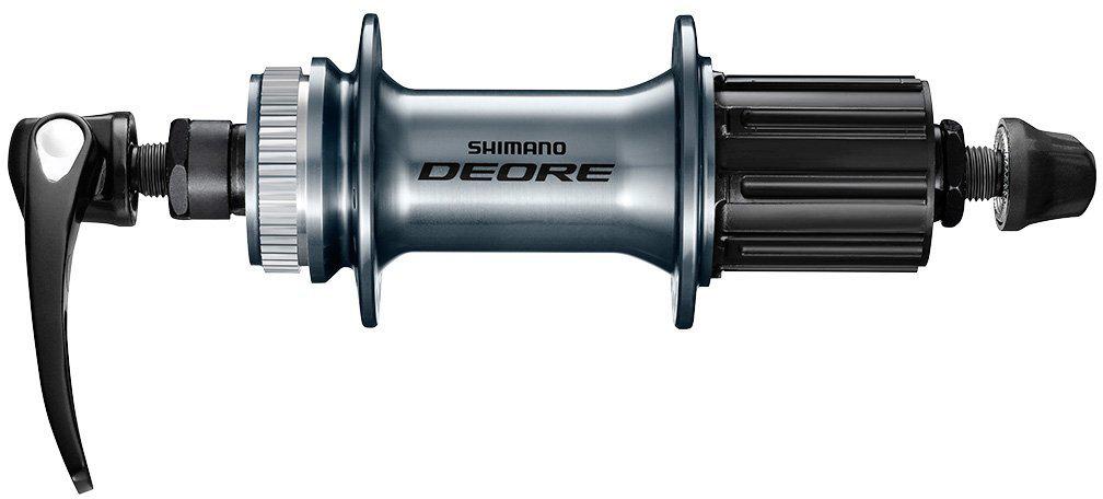 Втулка задняя Shimano Deore M6000, 36 отверстий, 8/9/10ск, C.Lock, QR, с пыльником, цвет: серебристый