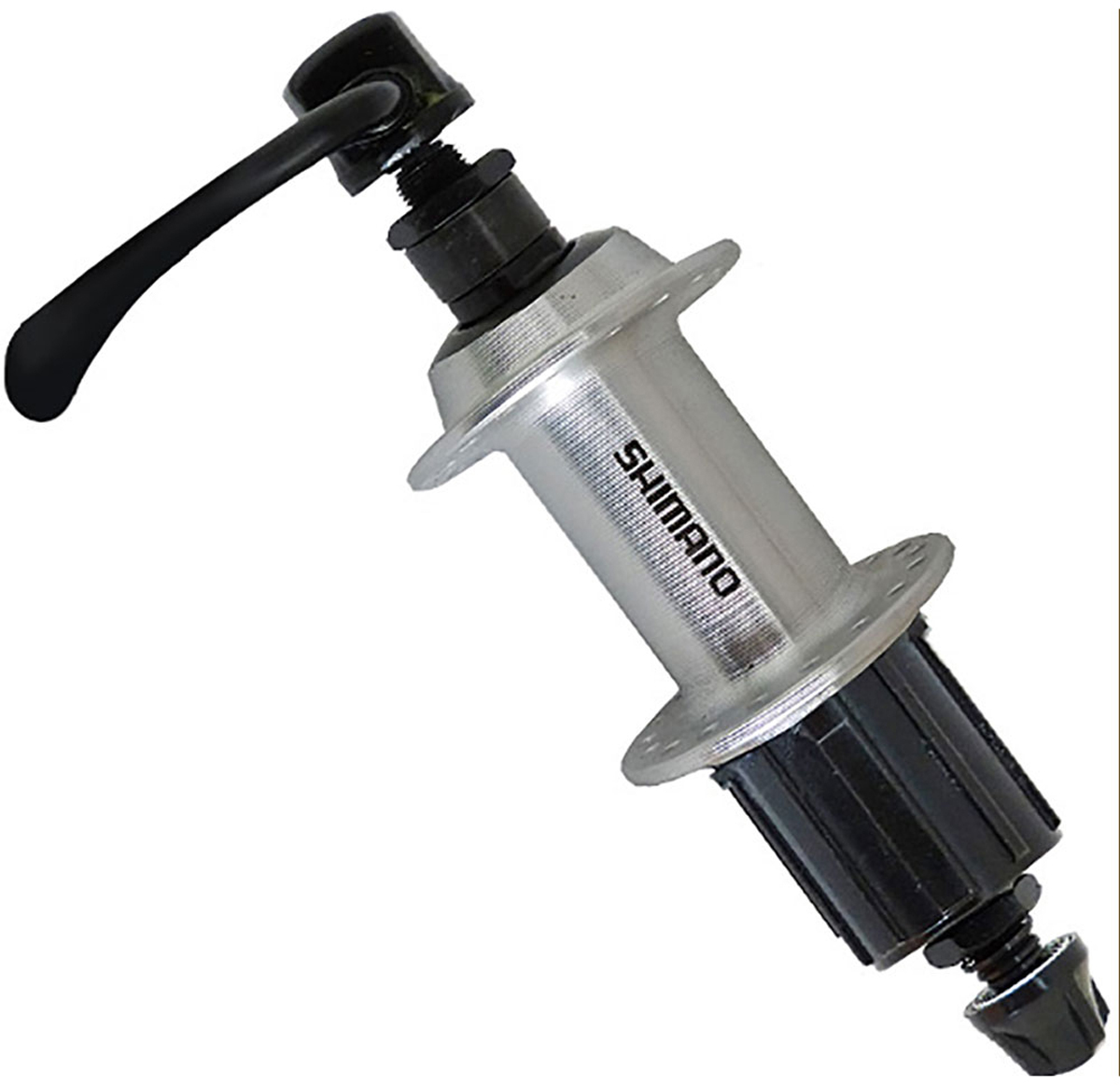 Втулка задняя Shimano TX500, v-br, 36 отверстий, 8/9ск, QR, old: 135 мм, цвет: серебристый втулка задняя ride trail qr 32h 135 мм синий rrt32135bl