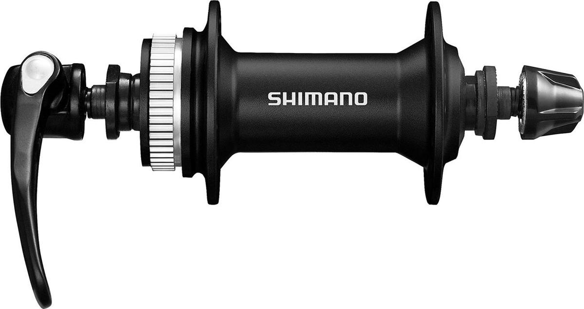 Втулка передняя Shimano Alivio M4050, 32 отверстия, C.Lock, QR 133 мм, цвет: черный