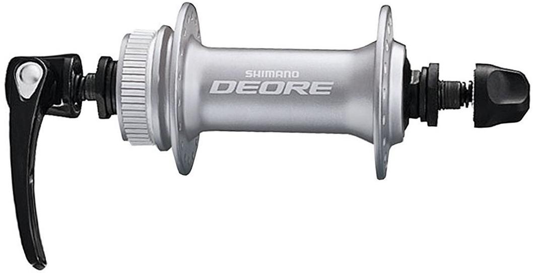 Втулка передняя Shimano Deore M6000, 32 отверстия, C.Lock, QR, цвет: серебристый shimano br bl deore m6000 hydraulic disc brake lever