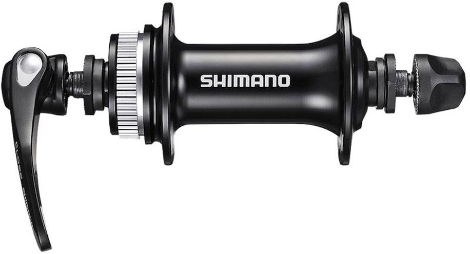 Втулка передняя Shimano RS505, 32 отверстия, C.Lock, QR 133 мм, цвет: черный втулка передняя ride trail qr 32 отверстия 100 мм 10 мм ось голубая алюминий 173 г rft32100lbl