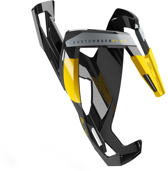 Флягодержатель Elite Custom Race Plus, цвет: черный, желтый