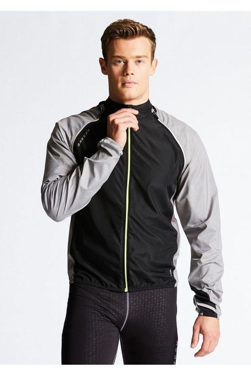 Велокуртка мужская Dare 2b Unveil II W/Shell, цвет: черный, серый. DML365-32W. Размер M (50) футболка dare 2b