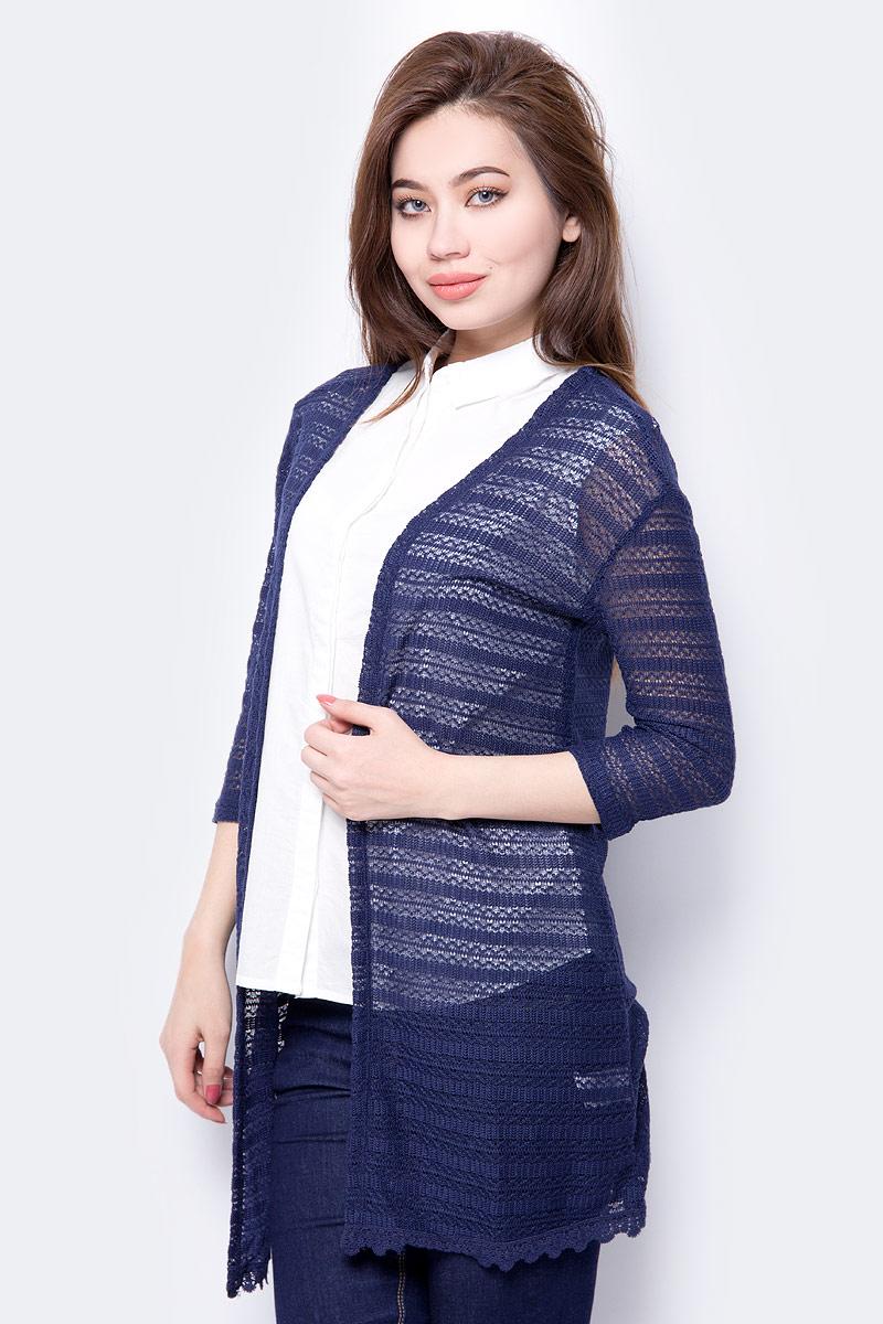 Кардиган женский Sela, цвет: темно-синий. CNk-113/092-8213. Размер XS (42) женский гардероб