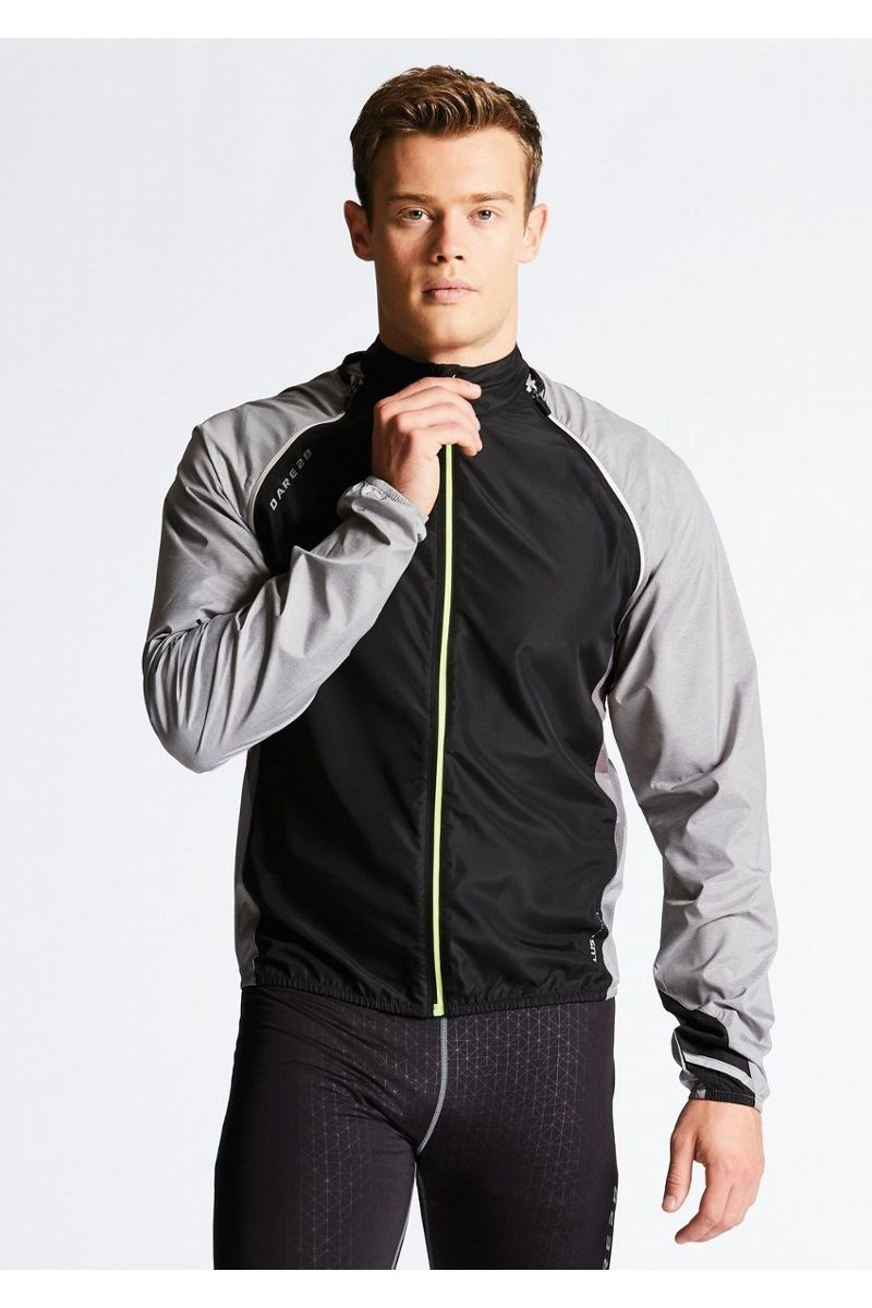 Велокуртка мужская Dare 2b Unveil II W/Shell, цвет: черный, серый. DML365-32W. Размер XXL (58/60) футболка dare 2b