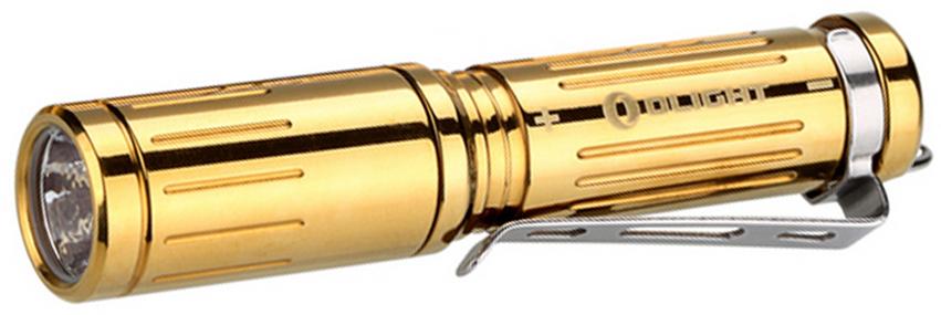 Фонарь светодиодный LE Olight i3S-CU Titanium, цвет: золотистый