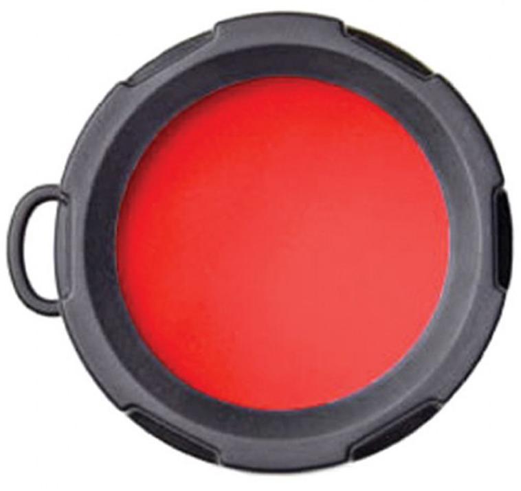 Оригинальный светофильтр Olight. Подходит к фонарям Olight S10, S15, S20, S10R, S15R, S20R, M10, M18, а также отлично подойдет к другим фонарям с диаметром головной части 23 мм.  Светофильтр предназначен для получения красного спектра освещения. Красный свет сохраняет сумеречное зрение человека.  Характеристики:  Спектр - красный; Подходит к фонарям - Olight S10, S15, S20, S10R, S15R, S20R, M10, M18; Материал: резина, оптическое стекло; Диаметр внешний - 26 мм; Диаметр внутренний - 23 мм; Высота - 17 мм.