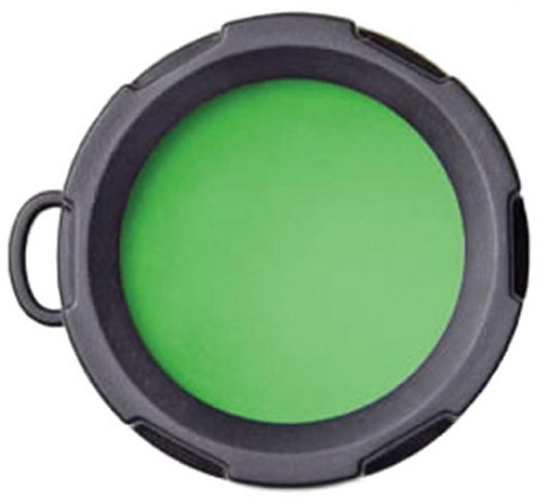 Оригинальный светофильтр Olight. Подходит к фонарям Olight S10, S15, S20, S10R, S15R, S20R, M10, M18, а также отлично подойдет к другим фонарям с диаметром головной части 23 мм.  Светофильтр предназначен для получения зеленого спектра освещения.  Характеристики:  Спектр - зеленый; Подходит к фонарям - Olight S10, S15, S20, S10R, S15R, S20R, M10, M18; Материал: резина, оптическое стекло; Диаметр внешний - 26 мм; Диаметр внутренний - 23 мм; Высота - 17 мм.