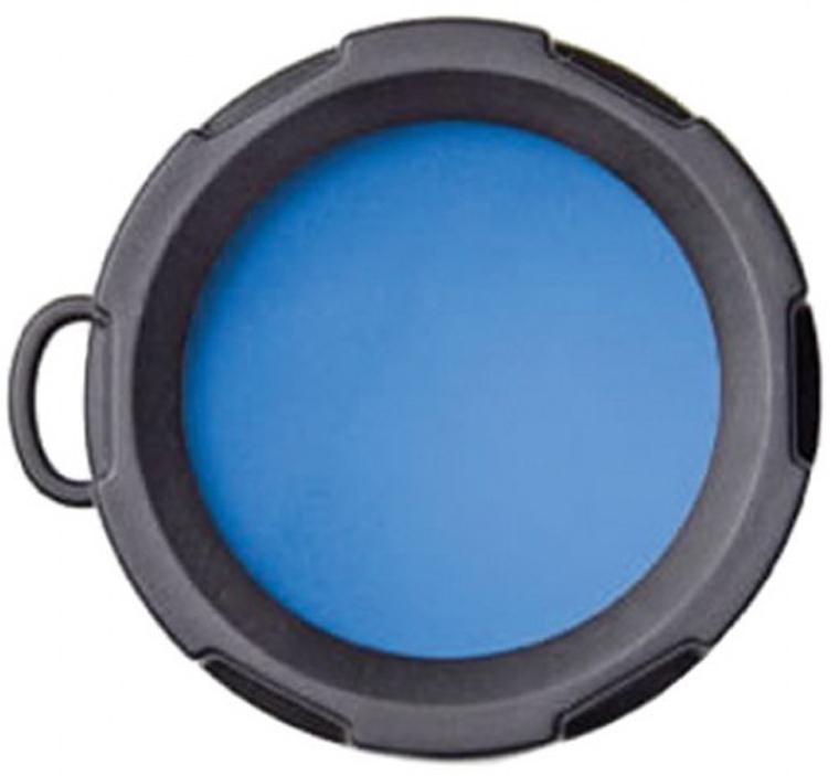 Оригинальный светофильтр Olight. Подходит к фонарям Olight S10, S15, S20, S10R, S15R, S20R, M10, M18, а также отлично подойдет к другим фонарям с диаметром головной части 23 мм.  Светофильтр предназначен для получения синего спектра освещения.  Характеристики:  Спектр - синий; Подходит к фонарям - Olight S10, S15, S20, S10R, S15R, S20R, M10, M18; Материал: резина, оптическое стекло; Диаметр внешний - 26 мм; Диаметр внутренний - 23 мм; Высота - 17 мм.
