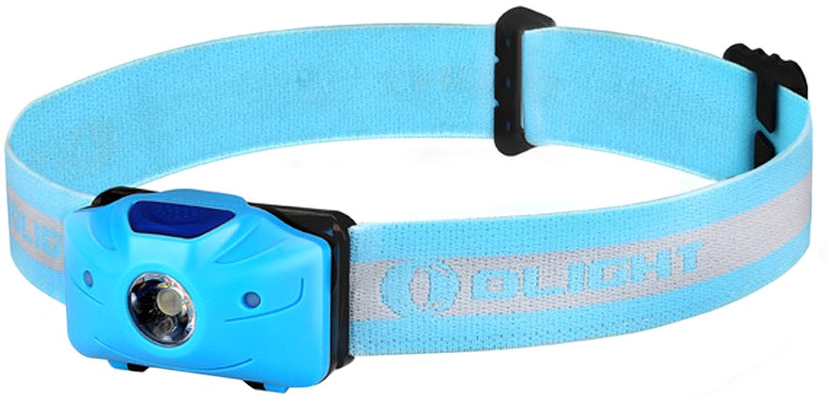 Фонарь светодиодный налобный Olight H05 Active, цвет: голубой