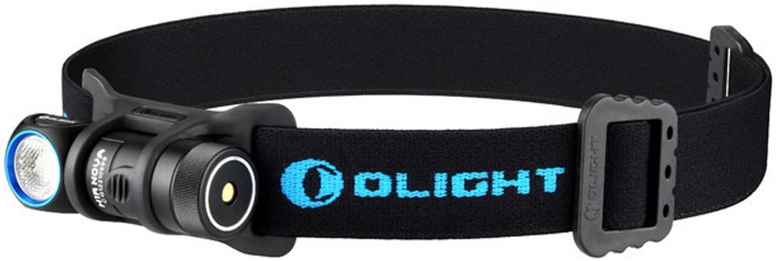 Фонарь светодиодный налобный Olight H1R Nova, CW холодный, с АКБ и USB ЗУ