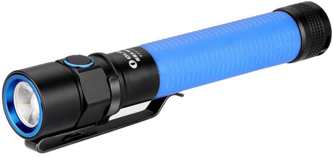 Фонарь светодиодный Olight S2A Baton, цвет: синийMV-918497Код MV-918497 Бренд Olight Тип фонаря светодиодный Макс.дальность луча (м.) 110 Время работы (мин.) 144000 Батарейки в комплекте есть Световой поток (лм.) 550 Питание 2xАА Тип подгруппы Карманные Коллекция S Series Длина (см) 13.2 Светодиодный фонарь Olight S2A Baton мощностью 550 люмен, работает от широко доступных двух пальчиковых батарей типа АА. Акриловая TIR оптика обеспечивает равномерный и приятный хотспот, а четыре варианта расцветки корпуса из мягкого силиконового материала черного, серого, синего и желтого цвета позволит выбрать понравившийся вам цвет. Акриловая TIR оптика позволила уменьшить габариты фонаря, исключив отражатель из головы. У модели фонарь S2A Baton есть 2 функции таймера выключения через 3 и 9 минут.Технические характеристики:Источник света — светодиод Cree XM-L2 U2 холодный свет. Срок службы светодиода — 50000 часов (около 5 лет). Мощность: 550 люмен ANSI FL-1 standard Дальность: 110 метров ANSI FL-1 standard. Интенсивность светового потока 3,000 Cd. Линза — акриловая TIR оптика с пропусканием света 90%, угол центрального луча — 30?, боковая засветка — 100°. Питание: 2 х AA Alkaline 1,5 V или Ni-Mh 1,2 V и Lithium. Количество режимов — 6: 5 режимов яркости и Строб 10 Гц. Цифровая электроника поддерживает постоянную мощность света. Аккумулятор внутри корпуса подпружинен с обоих сторон. Функция памяти — сохраняет последний использованный режим яркости при включении. Прочный эргономичный корпус выполнен из авиационного алюминия марки Т6061 T6 с жестким анодирование 3-й (максимальной) степени и силиконовой накладкой на корпус. Фонарь отлично стоит на торце, и его можно использовать в качестве свечи с помощью рассеивающего диффузора Olight TW1-W Traffic Wand. Ударозащита по стандарту FL1 Standard (падение с высоты до 1 метра). Повышенная герметичность корпуса по стандарту IPX8 ( погружение под воду не более 2-х метров на 30 мин). Изготовлен в соответствии с военными стандартами армии СШ