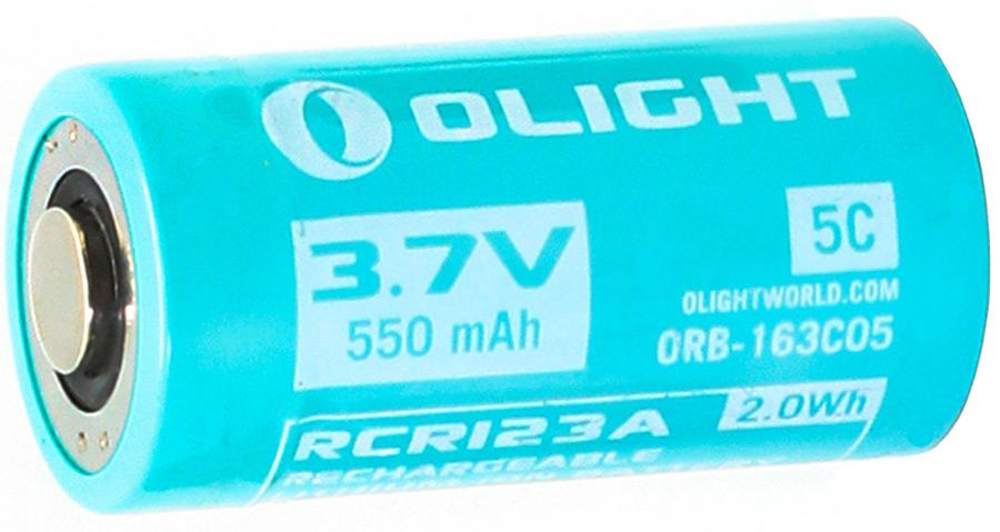 Аккумулятор для фонаря Olight ORB-163C05 16340, Li-ion, 3,7 В, 550 mAh