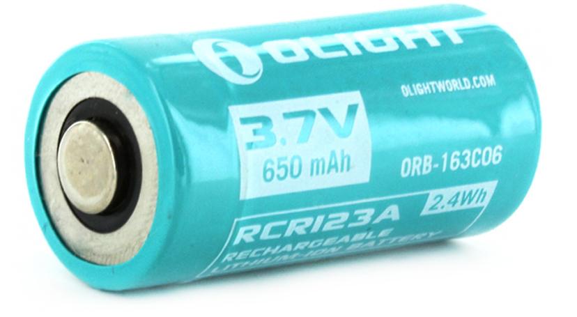 Аккумулятор для фонаря Olight ORB-163C06 16340, Li-ion, 3,7 В, 650 mAh