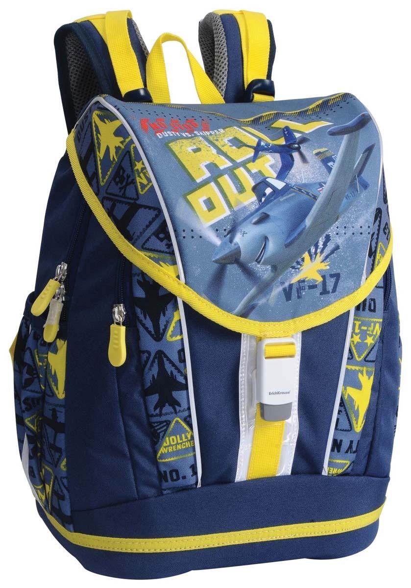 Школьный рюкзак Disney имеет большой объем и несколько полезных отделений на молнии  с множеством карманов для школьных принадлежностей и мелочей. Эргономичная спинка с  воздухопроницаемым покрытием и широкими лямками позволяет равномерно распределять вес  содержимого рюкзака, не нагружая спину ребенка. Влагоотталкивающее покрытие легко моется, а  светоотражающие элементы, расположенные по всему периметру рюкзака сделают ребенка  заметным в темное время суток.