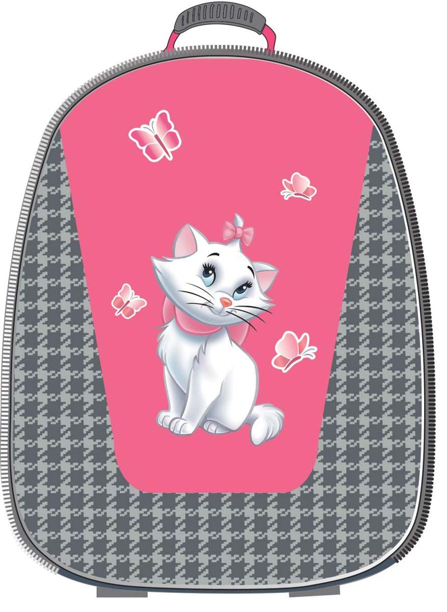 Disney Рюкзак детский Cat Marie Com Style39313Рюкзак каркасный Disney Marie Cat Com Style - это очень практичное и качественное текстильноеизделие. Жёсткий корпус защитит ребёнка и содержимое: он не позволит книгам и учебникамвтыкаться в спину и сбережёт рюкзак, если ученик его уронит. А смягчающие элементы (поролон исетка) сделают процесс ношения этого предмета комфортным.