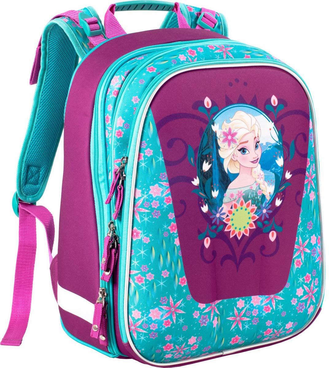 Disney Рюкзак детский Elsa Com Style39409Рюкзак каркасный Disney Elsa Com Style - это очень практичное и качественное текстильноеизделие. Жёсткий корпус защитит ребёнка и содержимое: он не позволит книгам и учебникамвтыкаться в спину и сбережёт рюкзак, если ученик его уронит. А смягчающие элементы (поролон исетка) сделают процесс ношения этого предмета комфортным.