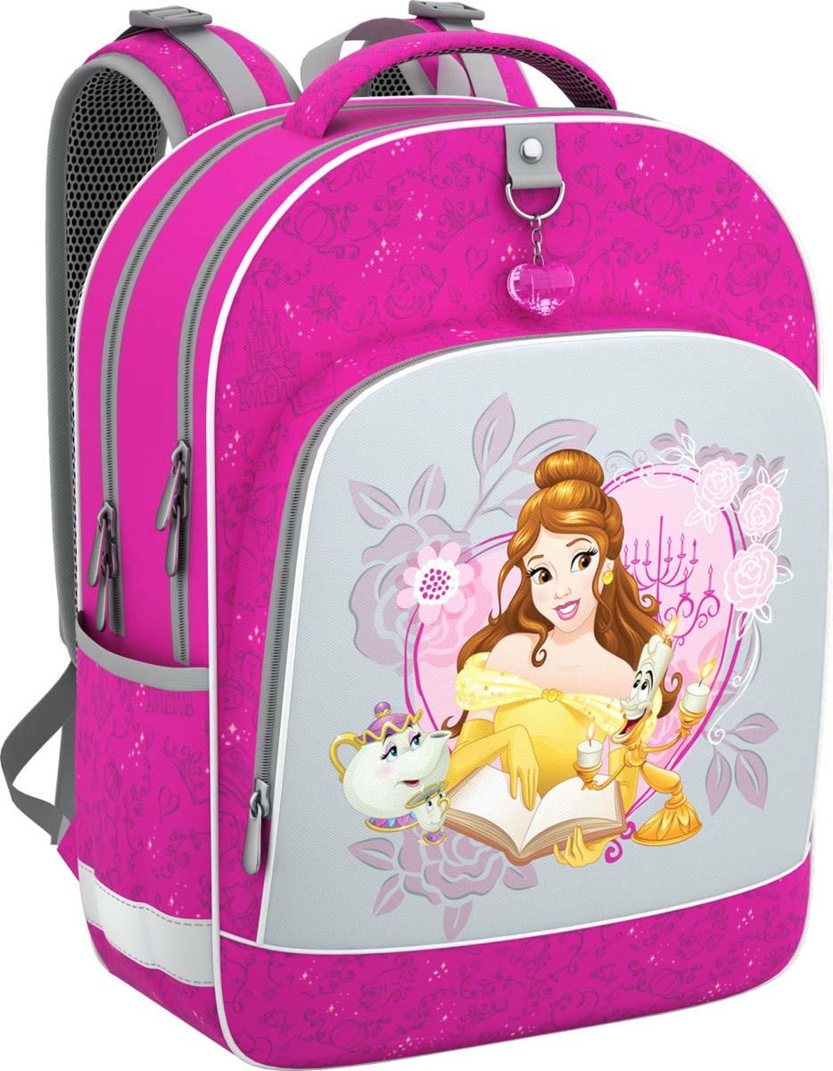 Disney Рюкзак детский Принцессы Disney Большая мечта42287Рюкзак школьный Disney сочетает в себе оригинальный дизайн, удобство и практичность.Жесткий каркас и эргономичная спинка дарят комфорт и способствуют улучшению осанкиребенка. Особенности модели: - рюкзак имеет жесткий каркас; - эргономичная спинка; - на дне пластиковые ножки; - светоотражающие элементы; - вмещает формат А4;-выполнен из непромокаемой водоотталкивающей ткани.