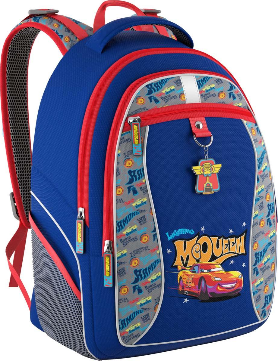 Disney Рюкзак детский Тачки Ретро ралли42410Рюкзак школьный Disney сочетает в себе оригинальный дизайн, удобство и практичность.Жесткий каркас и эргономичная спинка дарят комфорт и способствуют улучшению осанкиребенка. Особенности модели: - рюкзак имеет жесткий каркас; - эргономичная спинка; - на дне пластиковые ножки; - светоотражающие элементы; - вмещает формат А4; - выполнен из непромокаемой водоотталкивающей ткани.