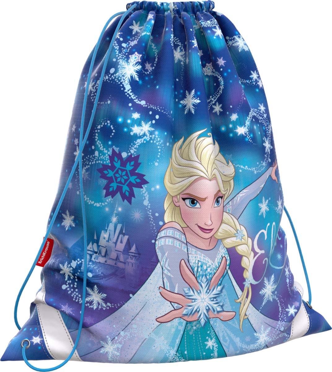 Disney Сумка для сменной обуви Холодное сердце Эльза и волшебство Северного сияния 45236 disney disney школьной зрачки девушка 3 4 6 сортов отдыха и путешествия плеча сумка 0168 розовых детского рюкзак