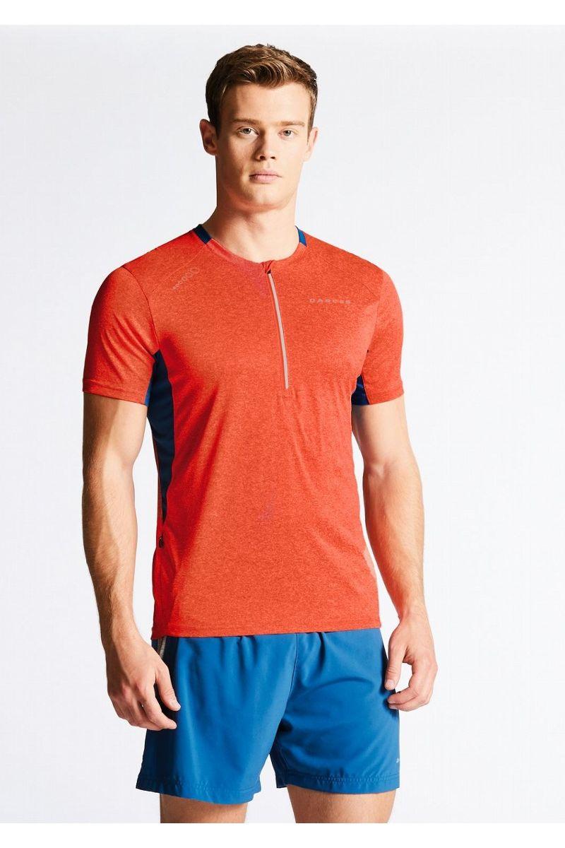 """Веломайка мужская Dare 2b """"Attest Jersey"""", цвет: темно-синий, оранжевый. DMT402-328. Размер XL (56)"""