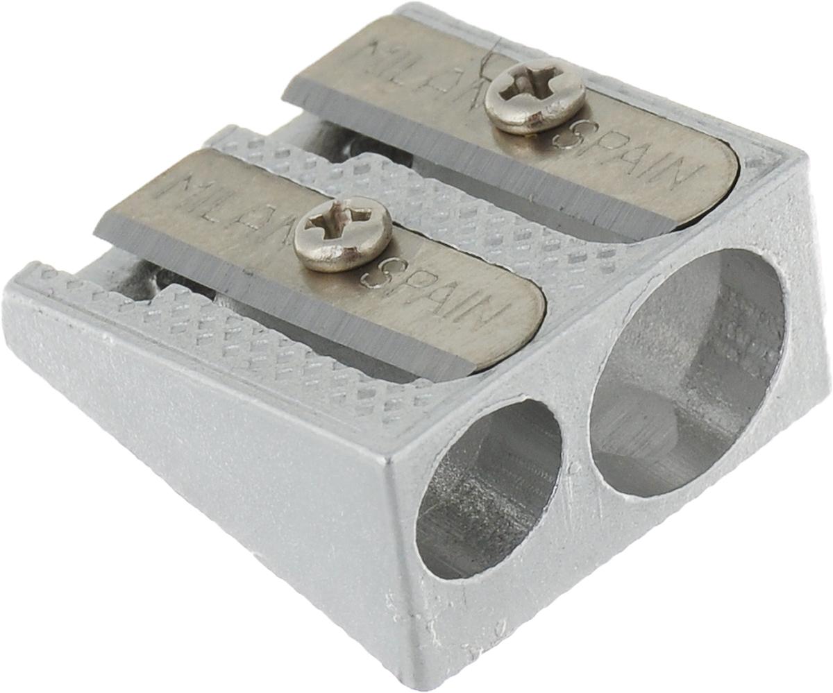 Milan Точилка 8003580035Качественная металлическая точилка с 1 и 2 отверстиями. Эргономичная конструкция.