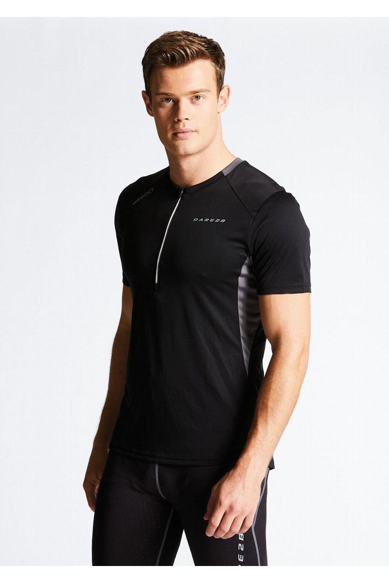 Веломайка мужская Dare 2b Attest Jersey, цвет: черный. DMT402-800. Размер XXL (58/60) футболка dare 2b