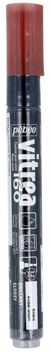 Pebeo Маркер по стеклу Vitrea 160 цвет амбра глянцевый 11808729738293212Маркер для росписи по стеклу, обладает высокой светостойкостью. Маркеры Vitrea 160 рекомендуется использовать для надписей и тонких линий. Применение: потрясите маркер, затем надавите на стержень несколько раз перед использованием.Поверхности: стекло, хрусталь. Изделия из «Pyrex», «Arcopal» или их аналоги не использовать. Изделия сушатся 72 часа. Обжиг изделия при дальнейшем использованиипосудомоечной машины: 40 минут при 160°C в духовом шкафу минимум через 24 часа после нанесения краски.