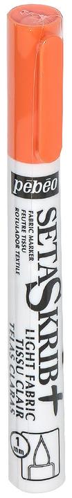 Pebeo Маркер для ткани Setaskrib+ Light Fabric цвет оранжевый 80300230561405582Маркер имеет кисточный наконечник для рисования, надписей и окрашивания. Профессиональное качество. Перед применением необходимо хорошо встряхнуть.Поверхности: для большинства видов тканей.Фиксация: 5 минут утюгом в режиме «хлопок» без пара с изнаночной стороны.Время высыхания: 2 часа.Уход : через 48 часов после фиксации можно стиратьизделия вручную или стиральной машине при 40°C.