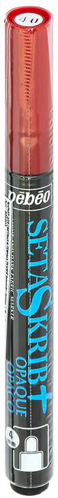 Маркер для ткани Pebeo Setaskrib+ Opaque, цвет: красный, 4 мм маркер для ткани pebeo setaskrib opaque цвет голубой 4 мм page 11