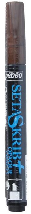 Маркер для ткани Pebeo Setaskrib+ Opaque, цвет: медный металлик, 2 мм маркер для ткани pebeo setaskrib opaque цвет голубой 4 мм page 11