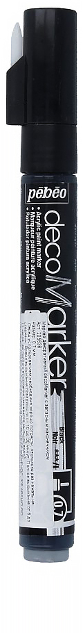 Pebeo Маркер декоративный decoMarker цвет черный 20563635859043812Маркеры на водной основе, содержащие жидкие акриловые краски.Для удобства использования в колпачке каждого decoMarker находится запасной наконечник. Если первоначально установленный наконечник поврежден или пришел в негодность, его необходимо заменить.Рекомендованы для множества техник. После высыхания оттенки не тускнеют. Обладают отличной светостойкостью.Им можно рисовать, писать, декорировать и однородно затушевывать. Цвета непрозрачны, их можно смешивать между собой, а также наносить поверх высохших слоев.Применение: потрясите маркер, затем надавите на стержень несколько раз перед использованием.Время высыхания поверхности от 10 до 30 минут. Полное высыхание от 6 до 12 часов. Смывается мыльной водой прежде, чем полностью высохнет.Поверхности: бумага, картон, папье-маше, дерево, металл, обожженная глина, пластик, холст