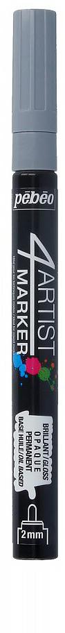 Pebeo Маркер художественный 4Artist Marker цвет серый 58004836576765082Маркеры 4Artist на масляной основе для живописи.Цвета яркие, непрозрачные, глянцевые. Обладают хорошей светостойкостью. При помощи этих маркеров можно выполнять четкие рисунки на большинстве основ. На пористых поверхностях результат будет менее глянцевым. Идеально подходит для смешанных техник или специальными красками, такими как Ceramic, Vitrail, смолы Gedeo и структурные краски Prism и Moon.Применение: потрясите маркер, затем надавите на стержень несколько раз перед использованием.Время высыхания поверхности от 5 до 15 минут в зависимости от пористости основания и толщины нанесенного слоя. После высыхания не смываемый.Очистка: минеральным маслом без запаха.Поверхности: холст, бумага, картон, дерево, металл, пластик, стекло, керамика, фарфор, гипс, минеральная основа.