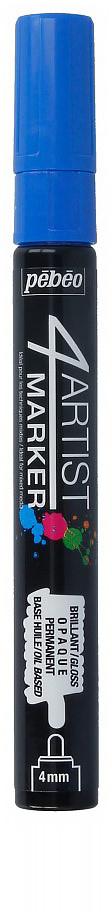 Pebeo Маркер художественный 4Artist Marker цвет синий 58011036577593852Маркеры 4Artist на масляной основе для живописи.Цвета яркие, непрозрачные, глянцевые. Обладают хорошей светостойкостью. При помощи этих маркеров можно выполнять четкие рисунки на большинстве основ. На пористых поверхностях результат будет менее глянцевым. Идеально подходит для смешанных техник или специальными красками, такими как Ceramic, Vitrail, смолы Gedeo и структурные краски Prism и Moon.Применение: потрясите маркер, затем надавите на стержень несколько раз перед использованием.Время высыхания поверхности от 5 до 15 минут в зависимости от пористости основания и толщины нанесенного слоя. После высыхания не смываемыйОчистка: минеральным маслом без запахаПоверхности: холст, бумага, картон, дерево, металл, пластик, стекло, керамика, фарфор, гипс, минеральная основа.