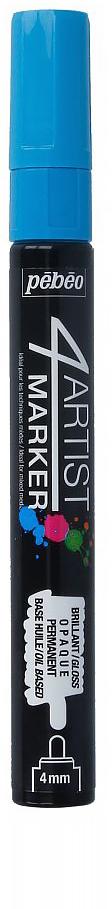 Pebeo Маркер художественный 4Artist Marker цвет голубой 58013336577599602Маркеры 4Artist на масляной основе для живописи.Цвета яркие, непрозрачные, глянцевые. Обладают хорошей светостойкостью. При помощи этих маркеров можно выполнять четкие рисунки на большинстве основ. На пористых поверхностях результат будет менее глянцевым. Идеально подходит для смешанных техник или специальными красками, такими как Ceramic, Vitrail, смолы Gedeo и структурные краски Prism и Moon.Применение: потрясите маркер, затем надавите на стержень несколько раз перед использованием.Время высыхания поверхности от 5 до 15 минут в зависимости от пористости основания и толщины нанесенного слоя. После высыхания не смываемыйОчистка: минеральным маслом без запахаПоверхности: холст, бумага, картон, дерево, металл, пластик, стекло, керамика, фарфор, гипс, минеральная основа.