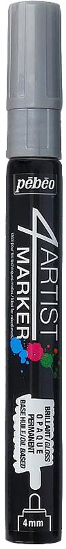 Pebeo Маркер художественный 4Artist Marker цвет серый 58014836577604892Маркеры 4Artist на масляной основе для живописи.Цвета яркие, непрозрачные, глянцевые. Обладают хорошей светостойкостью. При помощи этих маркеров можно выполнять четкие рисунки на большинстве основ. На пористых поверхностях результат будет менее глянцевым. Идеально подходит для смешанных техник или специальными красками, такими как Ceramic, Vitrail, смолы Gedeo и структурные краски Prism и Moon.Применение: потрясите маркер, затем надавите на стержень несколько раз перед использованием.Время высыхания поверхности от 5 до 15 минут в зависимости от пористости основания и толщины нанесенного слоя. После высыхания не смываемыйОчистка: минеральным маслом без запахаПоверхности: холст, бумага, картон, дерево, металл, пластик, стекло, керамика, фарфор, гипс, минеральная основа.