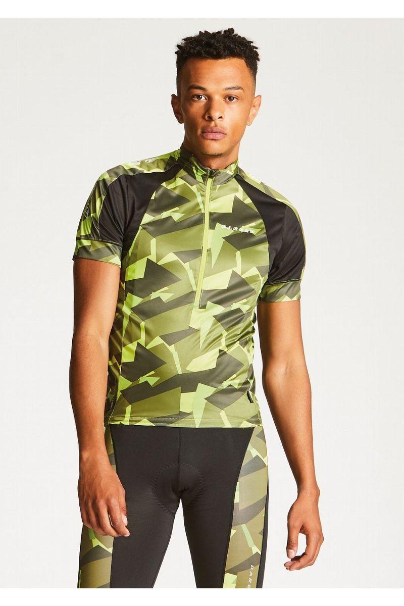 Веломайка мужская Dare 2b Eminent Jersey, цвет: зеленый. DMT423-3N8. Размер XL (56) футболка dare 2b