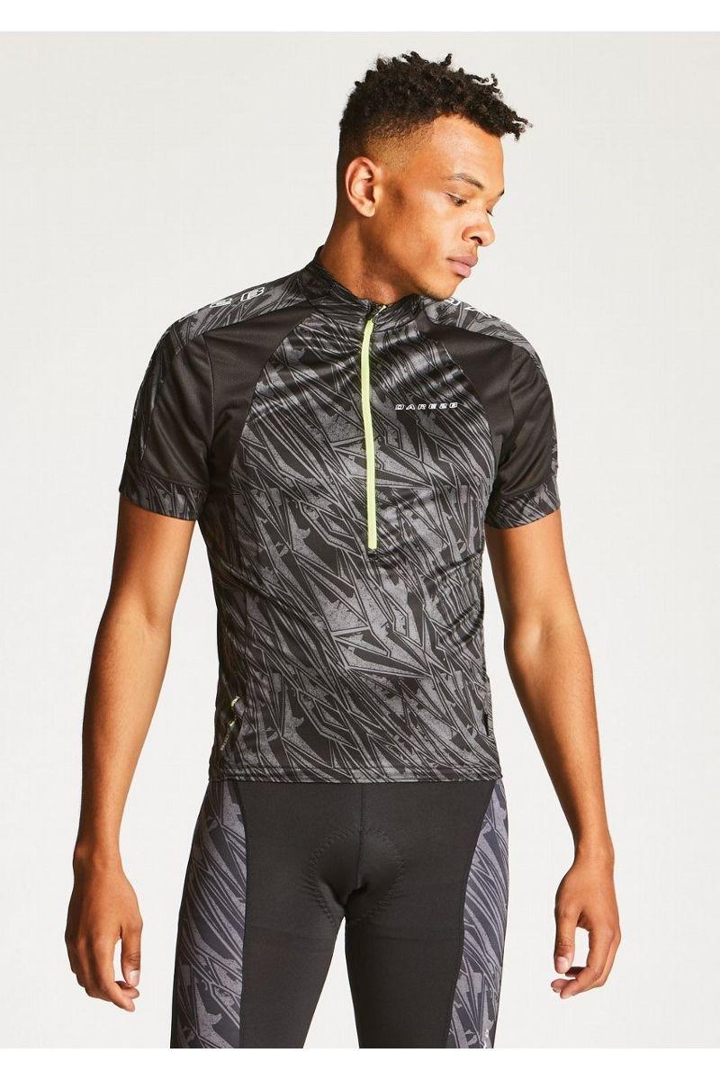 Веломайка мужская Dare 2b  Eminent Jersey , цвет: черный. DMT423-800. Размер S (48) - Велоспорт